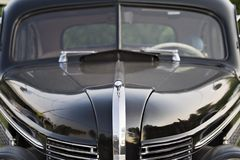 Vintage Buick Hood. And windshield view - 1930's stock photo