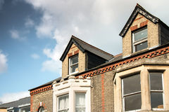 Vintage Building in Cambridge. With Blue Sky royalty free stock image