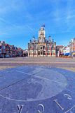 Vintage Building of City Hall, Delt, Holland Stock Image