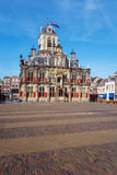 Vintage Building of City Hall, Delt, Holland Royalty Free Stock Images