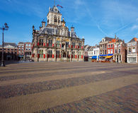 Vintage Building of City Hall, Delt, Holland Royalty Free Stock Photos