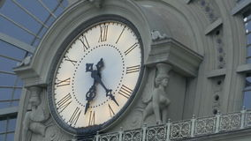 Vintage Building Clock stock video