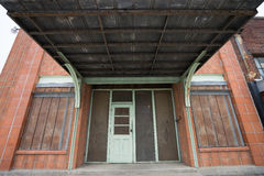 Vintage building entrance in texas. Vintage southern style building entrance in taylor texas stock photography