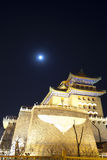 Vintage building in the night,Beijing,China Royalty Free Stock Photography