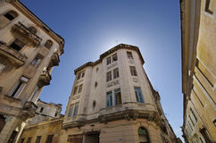Vintage building in Old havana street Royalty Free Stock Images