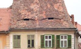 Vintage building from Sibiu, Romania Royalty Free Stock Photos