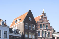 Vintage buildings roofs in Rotterdam, Netherlands Royalty Free Stock Photo