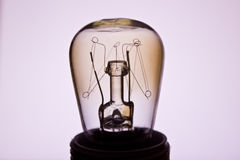 Vintage bulb on a white background Stock Photo