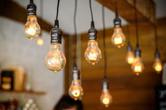 Vintage bulbs decor interiors Stock Images