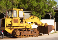 Vintage bulldozer Stock Images