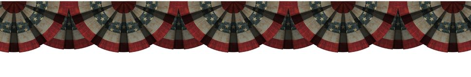 Vintage bunting American flag concept isolated with white background stock illustration
