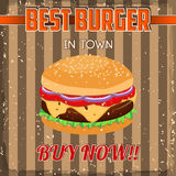 Vintage Burgers poster design Stock Photo