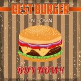 Vintage Burgers poster design Stock Photo