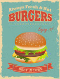 Vintage Burgers poster Royalty Free Stock Photos