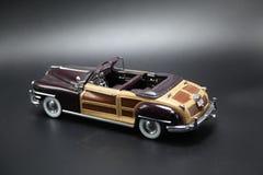 Vintage Burgundy Sports Car Model Stock Photography