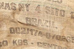 Vintage burlap background. Vintage coffee sack burlap background Royalty Free Stock Image