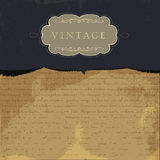 Vintage burned paper background Stock Images