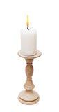 Vintage burning candle Stock Photos