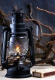 Vintage burning lantern Royalty Free Stock Photography