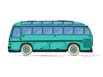Vintage bus cartoon Royalty Free Stock Photography