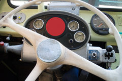 Vintage bus dashboard Stock Photo