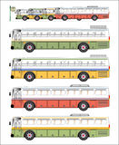 VIntage bus graphic Stock Photography