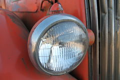 Vintage bus headlamp Stock Photo