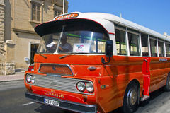 Vintage bus in Malta. Vintage sightseeing tour bus on the Island of Malta, July 12, 2013 Royalty Free Stock Images