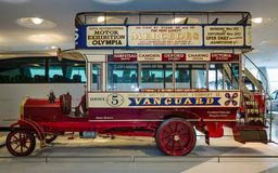 Vintage bus Milnes-Daimler double-decker bus, 1907. Royalty Free Stock Images