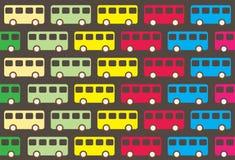 Vintage bus pattern Stock Image