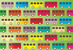 Vintage bus pattern Royalty Free Stock Photo