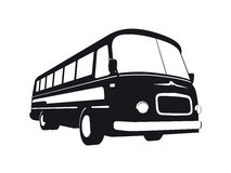 Vintage Bus Silhouette Stock Photography