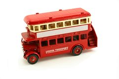 vintage bus toy Royalty Free Stock Photo
