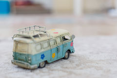 Vintage Bus Toy Royalty Free Stock Images