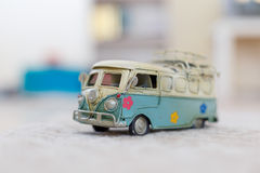 Vintage Bus Toy Stock Photo