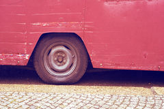 Vintage bus wheel Royalty Free Stock Image