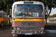 Vintage buses Valletta Malta Stock Photos