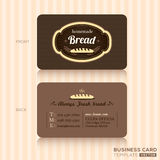 Vintage business card for bakery shop Royalty Free Stock Photo