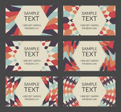 Vintage business card templates Royalty Free Stock Images