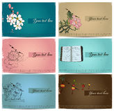 Vintage business cards set. Royalty Free Stock Photos
