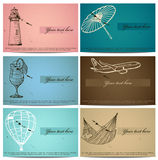 Vintage business cards set. Stock Image