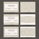Vintage Business Cards Templates Stock Image
