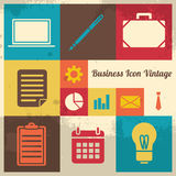 Vintage Business Icon. Vintage and Retro business icon collection set Stock Photos