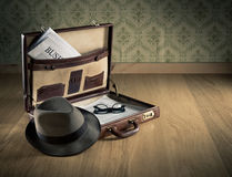 Vintage businessman briefcase Royalty Free Stock Photo
