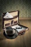 Vintage businessman briefcase Stock Photography