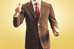 Vintage businessman hand gestures Royalty Free Stock Photos