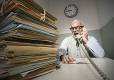 Vintage businessman on the phone Royalty Free Stock Images