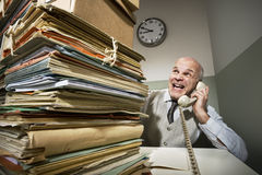 Vintage businessman on the phone Royalty Free Stock Image