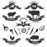 Vintage butchery shop labels Stock Photography