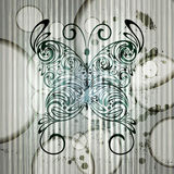 Vintage butterfly on grungy background Royalty Free Stock Photos